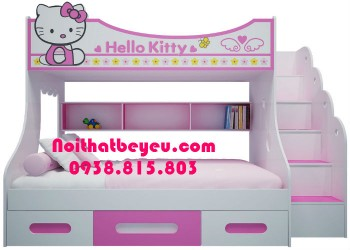 Giường 2 Tầng Trẻ Em Hello kitty